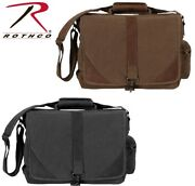 Vintage Military Urban Pioneer Tactical Laptop Case W/leather Accents 9890 9690