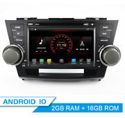 8 Android 10.0 Car Dvd Radio Stereo Gps Head Unit For Toyota Highlander 2008-14