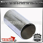 2.5 X 7 Ss Exhaust Straight Extention Pipe Tube 2 1/2 X 7 Tip Header Downpipe