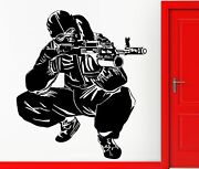 Wall Stickers Vinyl Decal Army Special Forses Ak-47 Military Decor Z2329