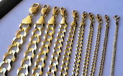 Authentic 10k Solid Gold Men /women Cuban Link Chain Size16-36 Free Shipping
