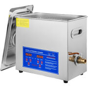 Vevor 6l Ultrasonic Cleaner Stainless Steel Industry Heater W/timer Jewelry Lab
