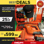 Hilti Wsr 650-a Cordless Reciprocating Saw Preowned Free Extras Fast Ship