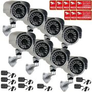 8 X Security Camera 700tvl W/ Sony Effio Ccd Wide Angle Lens Outdoor And Power Wwe