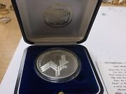 Israel 1984 Los Angeles Olympics Games State Medal 37mm 26g Silver