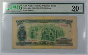 1966 South Vietnam National Bank 50 Dong Note Pick 44a Pmg 20 Very Fine Details