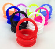 10 Pair Set - Soft Silicone Ear Tunnels Plugs Gauges Earlets - Up To Size 50mm