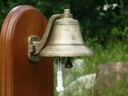 Bellingham Bell Company 6 In. Patina J Bronze Bell, Wall Mount And Bell Rope