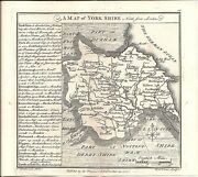 Antique Map Badeslade And Toms 1742 Yorkshire