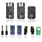 Jjc 2.4ghz Wireless Remote Control And Flash Trigger W/ 2 Receivers For Canon Dslr