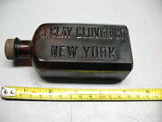 H. Clay Clover Co Amber Bottle W/ Screw On Top Nice