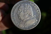 French Silver 5 Francs Coin Louis Xviii, 1815, Rare