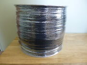 1/4 Inch Hollow Braid Polypropylene Rope 2700 Ft.spool. Black. Made In The Usa