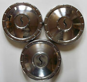 1960and039s Studebaker 10 Inch Dog Dish Poverty Hub Caps Wheel Covers Lot Of 3 D