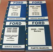 Ford 3400 3500 4400 4500 Industrial Tractor Service Repair Shop And Parts Manuals