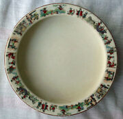 Antique Edwin Knowles Baby Infant Cereal Food Dish Nursery Rhyme Puss And Boots