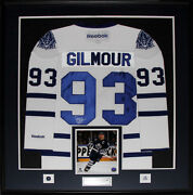Doug Gilmour Toronto Maple Leafs Signed White Jersey Nhl Hockey Collector Frame