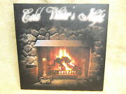 Cold Winters Night Lighted Canvas Wall Decor Sign Fireplace Fire Wood Beautiful