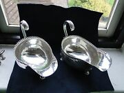 Massive Sauce Boat Old Sheffield 1800 Silver Plated Rare One Of A Kind Antique