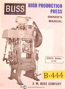 Bliss 660 Press Brake Installation Operations And Service Manual