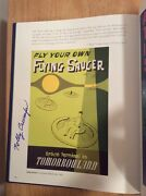 Signed -rolly Crump Poster Art Of The Disney Parks Hardcover Book + Pic