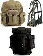 Large Enhanced Deluxe Alice Pack And Frame Military Style Nylon Backpack 40045