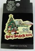 Disney Wdw Happy Holidays Contemporary Resort Mickey Mouse Monorail Pin