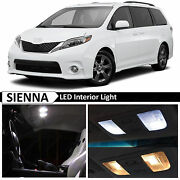 21x White Interior Map Dome Led Lights Bulb Package Fits Toyota Sienna 2015-2017