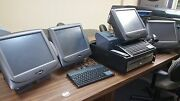 Lot Of Pos Radiant All-in-one Touchscreen Terminals Accubanker Ab5000 + Extras