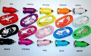 200 Lot 100 Sets Car Adapter + Micro Usb Charger Cable Data Sync Transfer Color