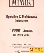 Mimik 9000 Series Engine Lathes Operations And Maintenance Manual