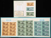 China The Second-set Year 1953 Renminbi 8-in-1 Uncut Fen-bills/banknotes