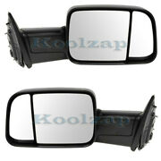 09-12 Ram Pickup Truck Manual Fold Flip-up Tow Mirror Left And Right Side Set Pair