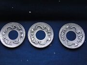 Sterling Silver Chinese Chased And Engraved Dishes Unmarked Antique 1860