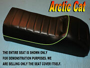 Arctic Cat Wildcat Seat Cover Green Piping 1989-92 Wild Mountain Cat Blk 858b