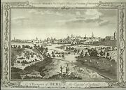 Antique Map, A Prospect Of Dublin, The Capital Of Ireland