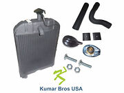 New Ford Tractor 8n8005radiator With Original Style Cap, Hoses And Pad 2n 8n 9n