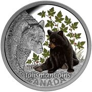 Canada 2015 Black Bear Cub Baby Animals 20 1 Oz Pure Silver Proof In Full Ogp