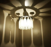 Unique Wine Bottle Shadow Chandelier Light Made In The Usa Lightingwine Decor