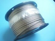 304 Stainless Steel Wire Rope Cable, 5/16, 7x19, 200 Ft, Made In Korea