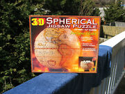 """3-d Spherical """"antique Globe"""" Jigsaw Puzzle 530 Pieces 9.5 Diameter New And Sealed"""