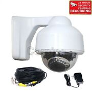 700tvl Outdoor Dome Security Camera Night W/ Sony Effio Ccd Power Cable Kit M6q