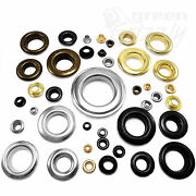 Brass Eyelets With Washers Leather Craft Grommet Banner 3 4 5 6 8 10 12 17 Mm