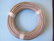 304 Stainless Steel Wire Rope Cable, 5/16, 7x19, 100 Ft, Made In Korea