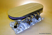 Trm Custom Fabricated Air Cleaner Assembly, Show Polished Alum, 3 Bases Avail