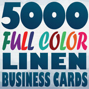 5000 Full Color Custom 100lb Cover Linen Uncoated Business Card Printing