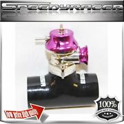 Silicone Type-s Turbo Blow Off Valve Bov 2.5 Adapter Black/red + Emusa Bov