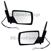 For 04-09 Quest Van Rear View Mirror Power Non-heated W/o-puddle Lamp Set Pair