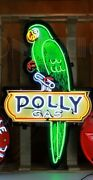 Neon Sign Polly 53 Gas Parrot Gasoline Oil Wall Lamp Pump Globe In A Steel Can