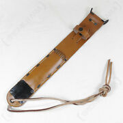 Us M6 Brown Leather Sheath - Us Army Airborne Paratrooper Knife Ww2 Repro